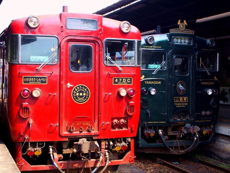 駅弁持って「特急 いさぶろう・しんぺい」へ!九州屈指の観光列車に乗ろう