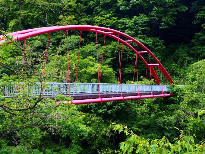 ふたつの橋から見る、渓谷の絶景