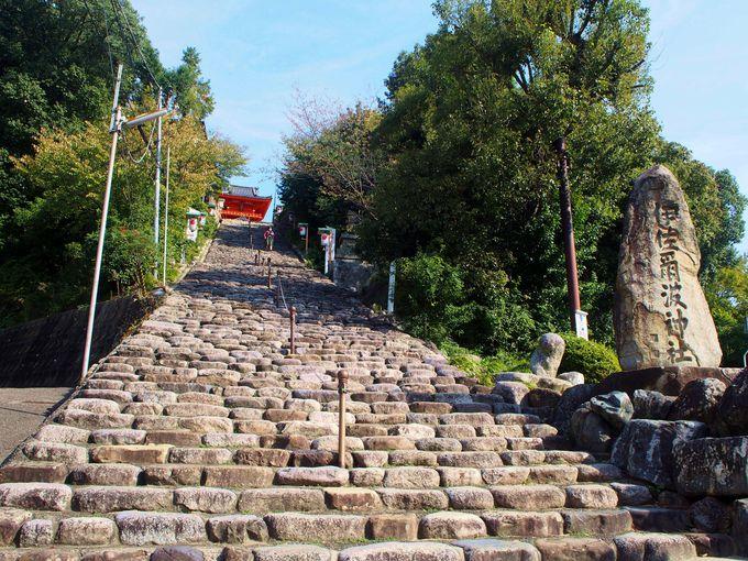大迫力!135段つづく伊佐爾波神社の石段