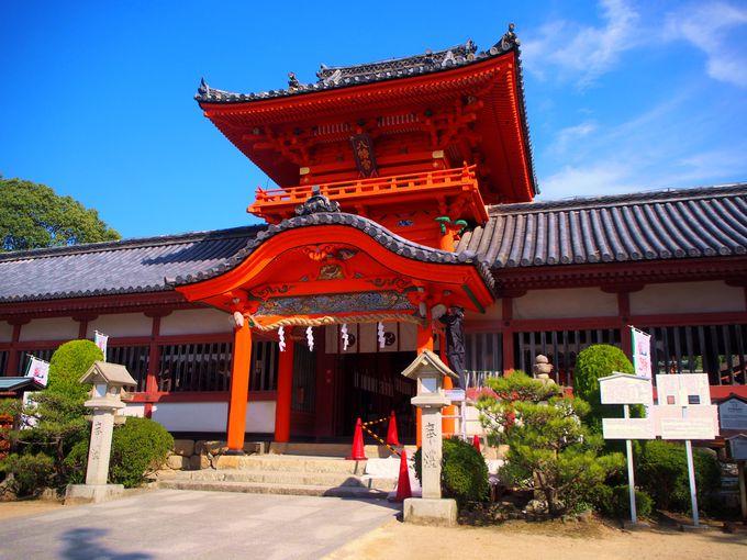 鮮やかな朱色!日本三大八幡造の社殿