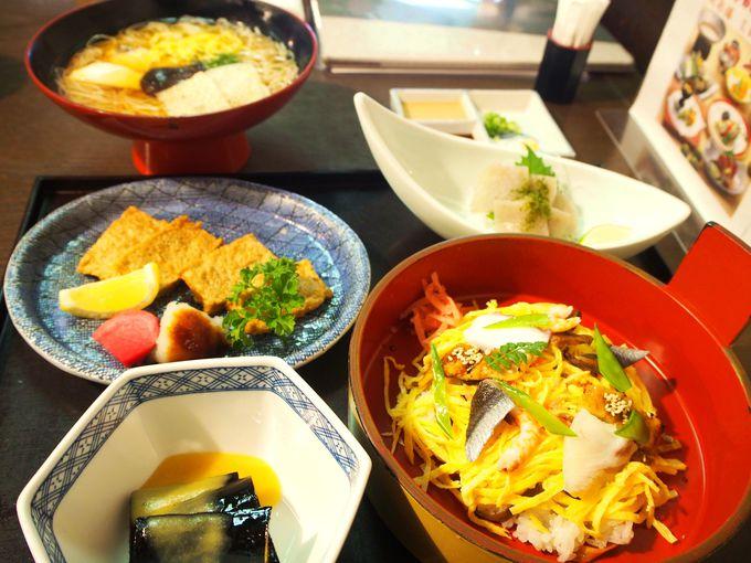 2つの郷土料理を味わえる!すし丸の松山御膳
