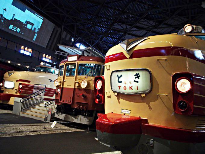 懐かしの列車に会える!車両ステーション1F