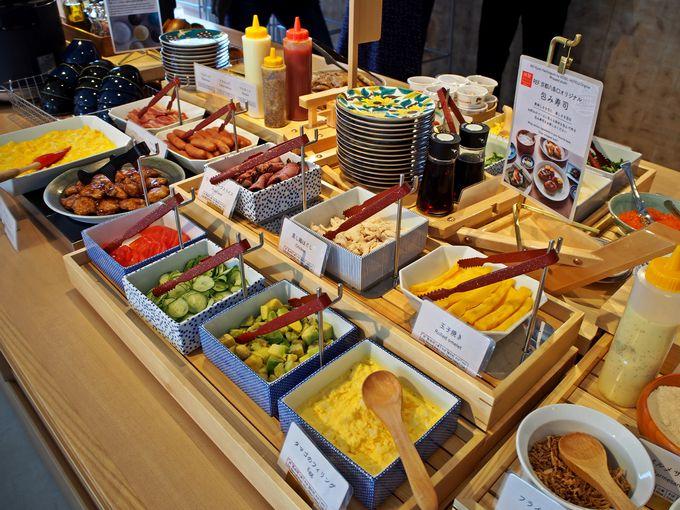 包んでいただく、レフ京都八条口の朝食ビュッフェ