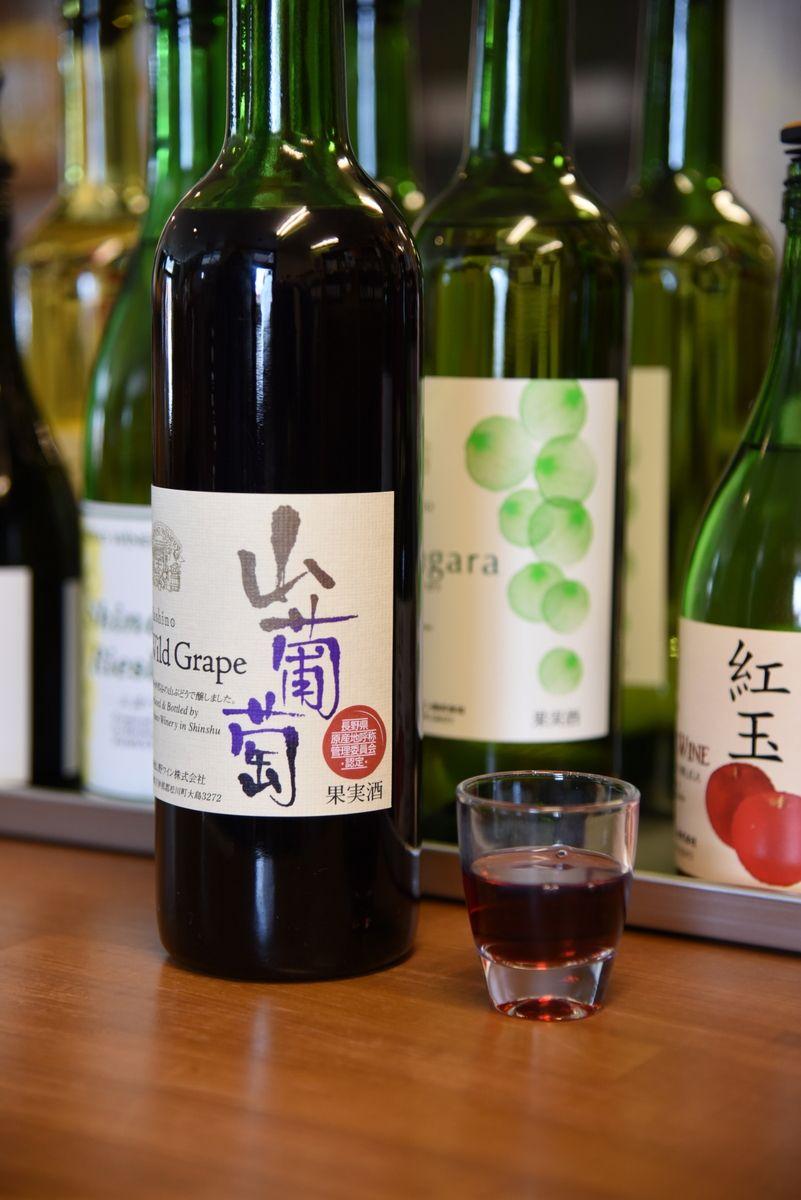 季節のフルーツを使ったワインがずらり