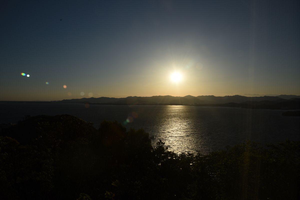 全室、浜名湖眺望!美しい夕日に直虎を思う!?