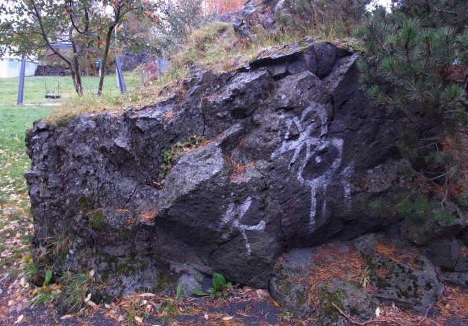 岩の中から妖精の親子の声が!?