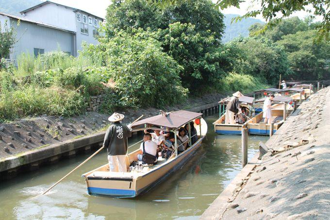 日本一遅い乗り物で進む「近江八幡水郷めぐり」