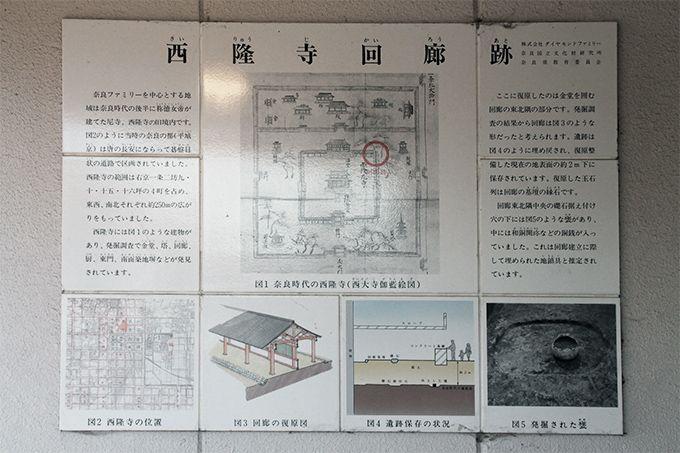 西隆寺回廊跡