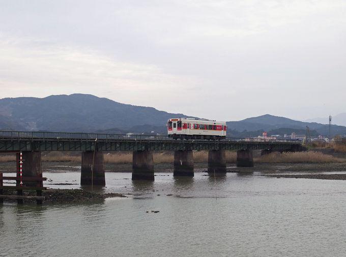最後は終点伊万里への玄関口にある長大な橋「有田川橋梁」