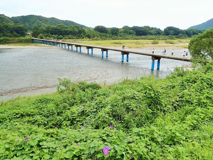 四万十川最下流にある最長の橋「佐田沈下橋」