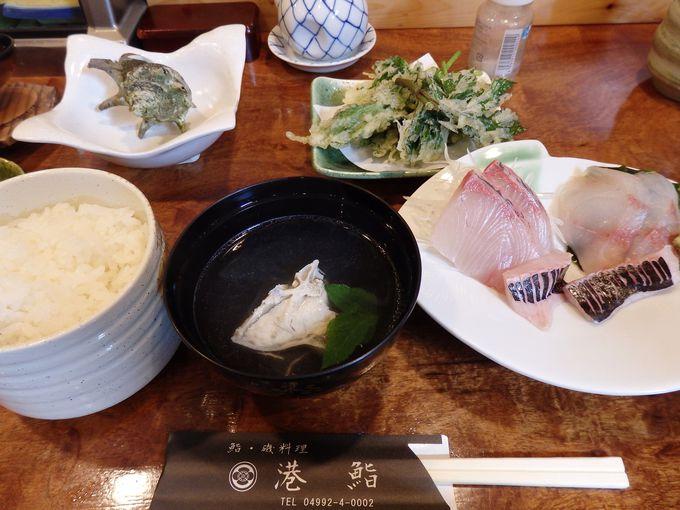 丁寧に調理した島の食材を味わえる港鮨