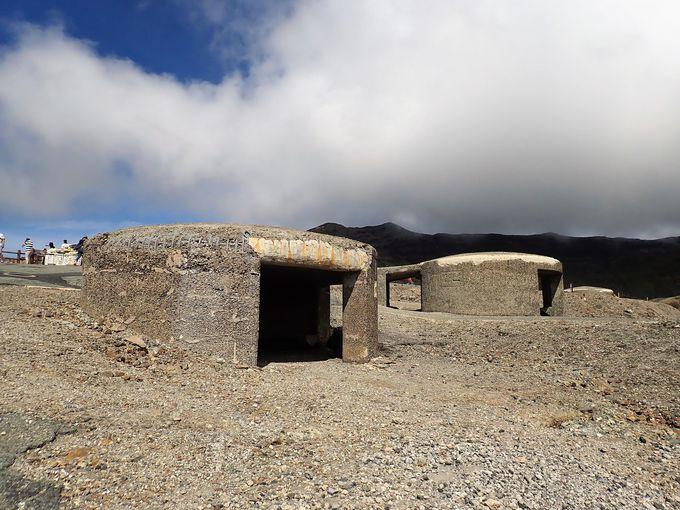 噴火に耐えた退避壕
