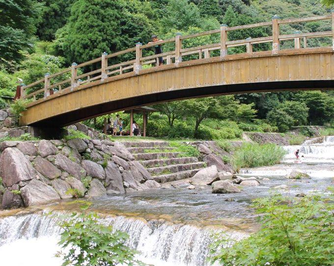 絶好の川遊びスポット「ほたる橋」