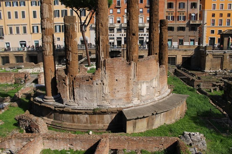 古代ローマ遺跡を無料で楽しめる「アルジェンティーナ神殿跡」