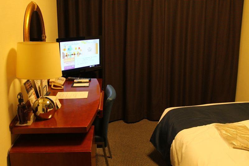 ひとり部屋なのにダブルベッド!広めの客室でリラックス