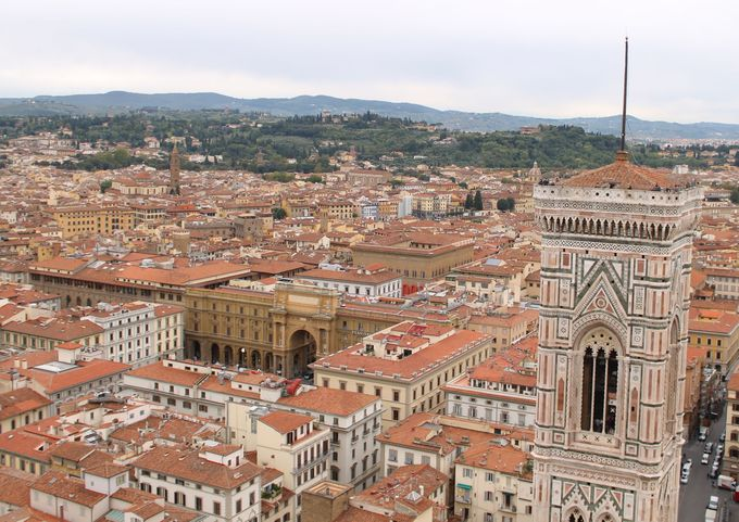 クーポラの見晴らし台で楽しむ!フィレンツェのパノラマビュー!