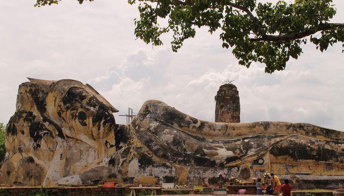 世界遺産・古都アユタヤ遺跡のひとつ「ワット・ロカヤスタ」