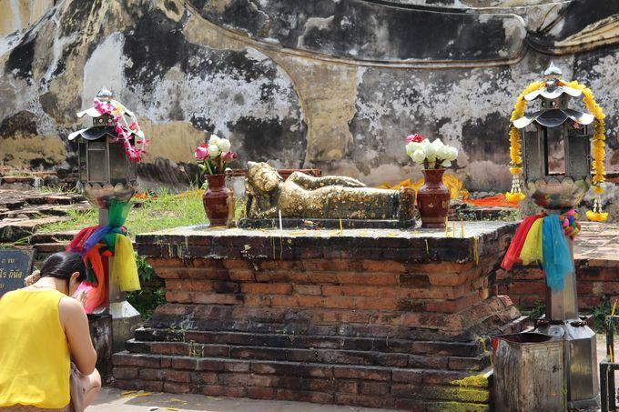 「ワット・ロカヤスタ」涅槃像の参拝方法