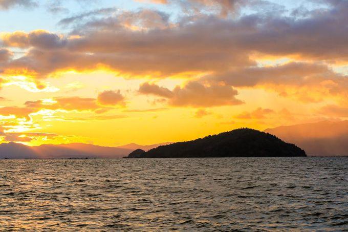 10. 琵琶湖の沖島(滋賀県)