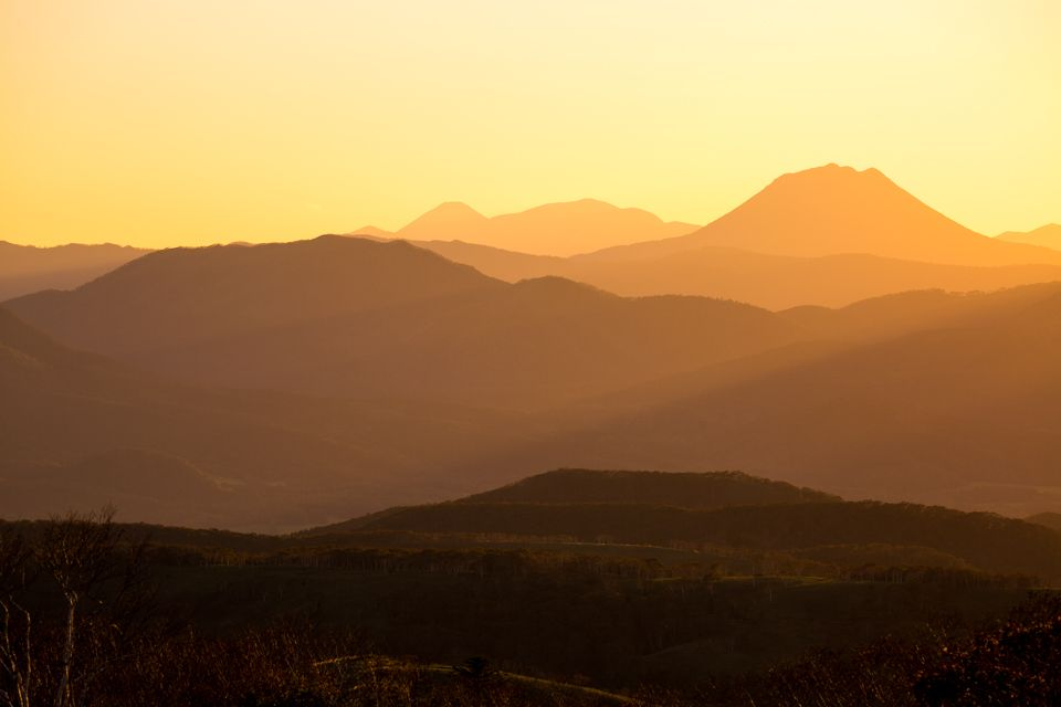 夕景の山々
