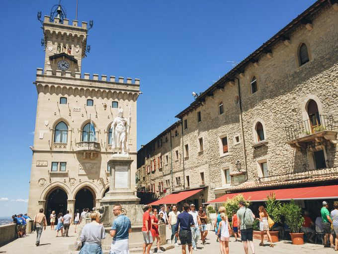 3)世界遺産の街「サンマリノ」に行ける