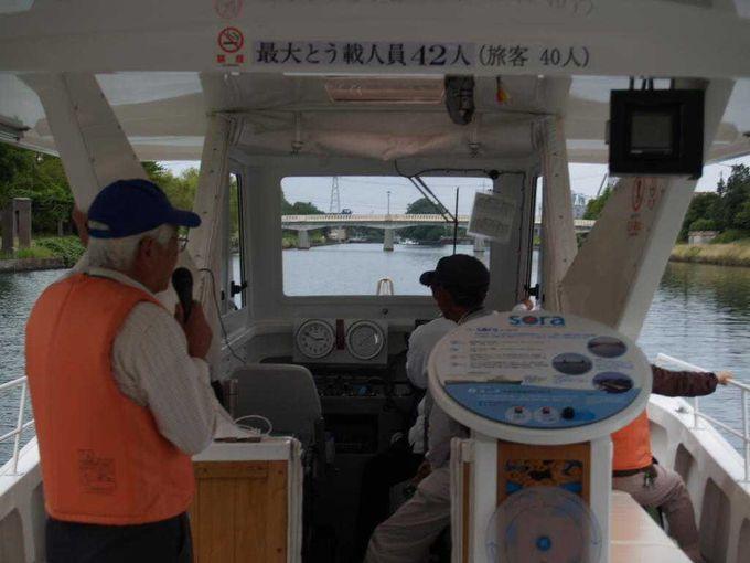 富山弁のガイドを聞きながら、運河の歴史をおさらい