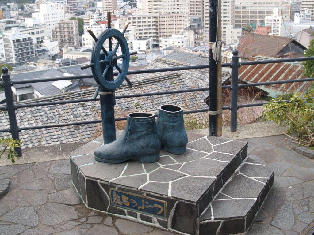 龍馬といったら、ブーツ。「龍馬のぶーつ」を履いて気分はでっかく太平洋ぜよ!