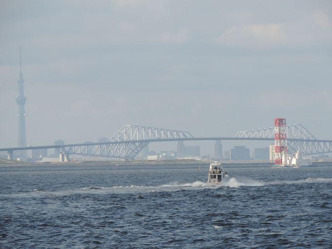 東京ベイエリアの有名スポットを海から総ざらい
