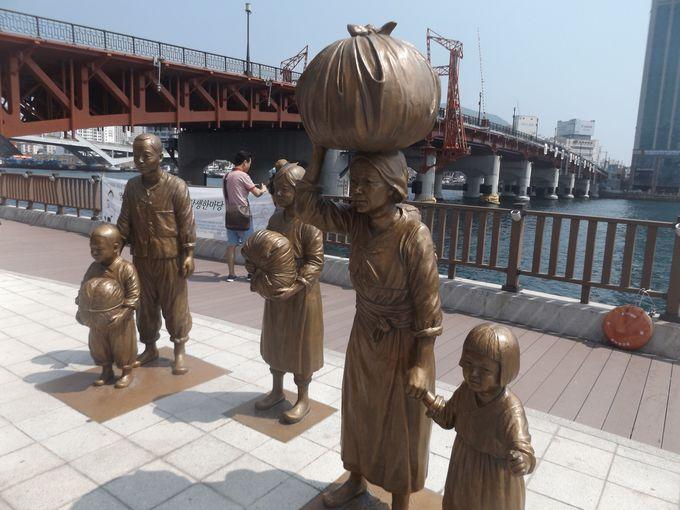 影島大橋のたもとにある家族の像に秘められた釜山の歴史とは?