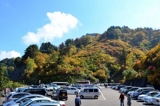 登る前から美しい!三方岩岳駐車場