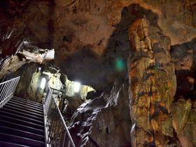 スリル満点!垂直下降の梯子で降りてゆく京都「質志鍾乳洞」