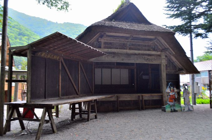 桧枝岐歌舞伎の舞台
