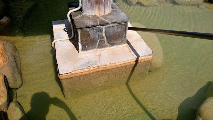 成分の濃い濁り湯が掛け流し
