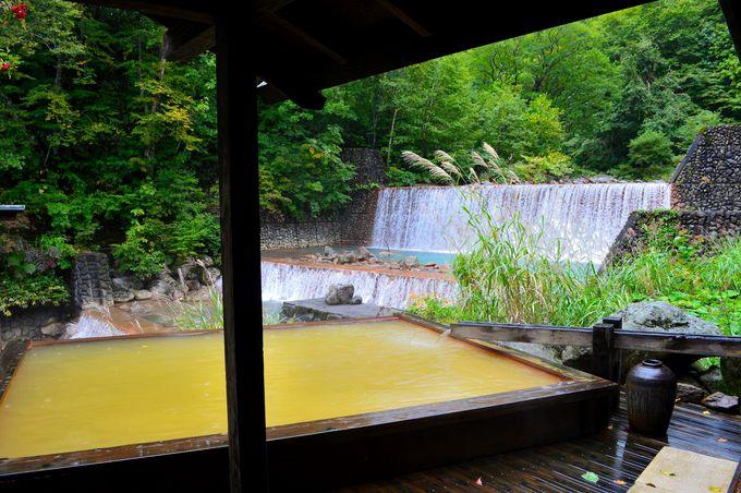 滝見露天に入れる「妙の湯温泉」