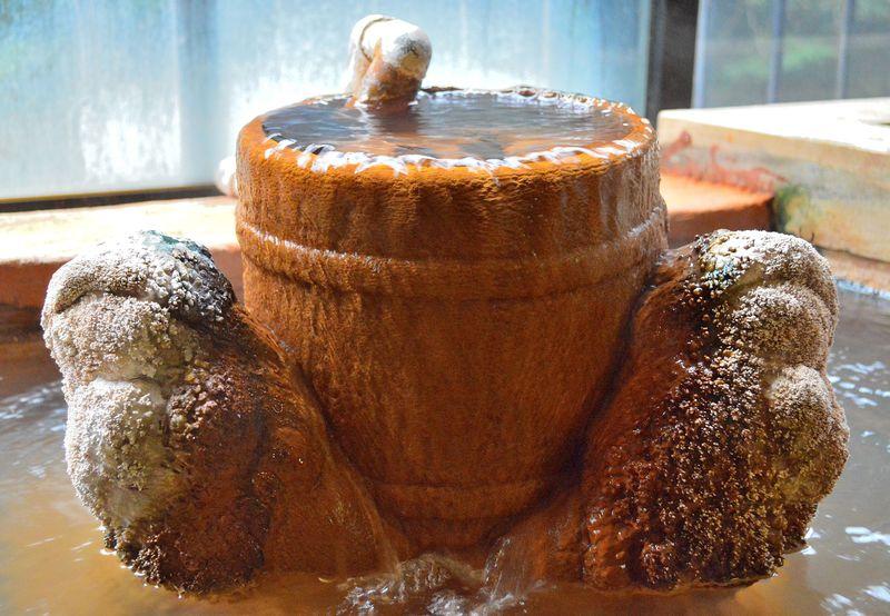天使の羽から温泉がドバドバ?鹿児島・新川温泉「せせらぎ荘」