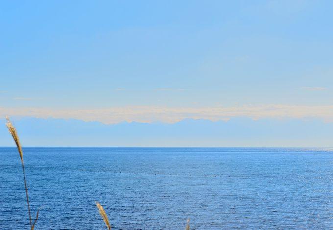 海に出れば立山連峰の景色を一望