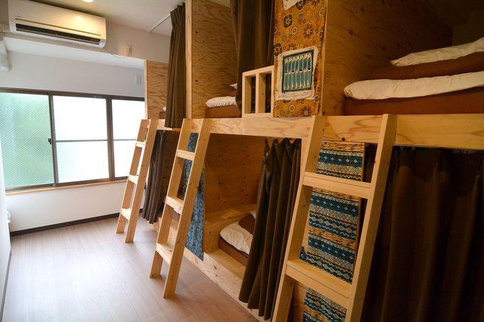 宿泊部屋はドミトリーと和室の2種類