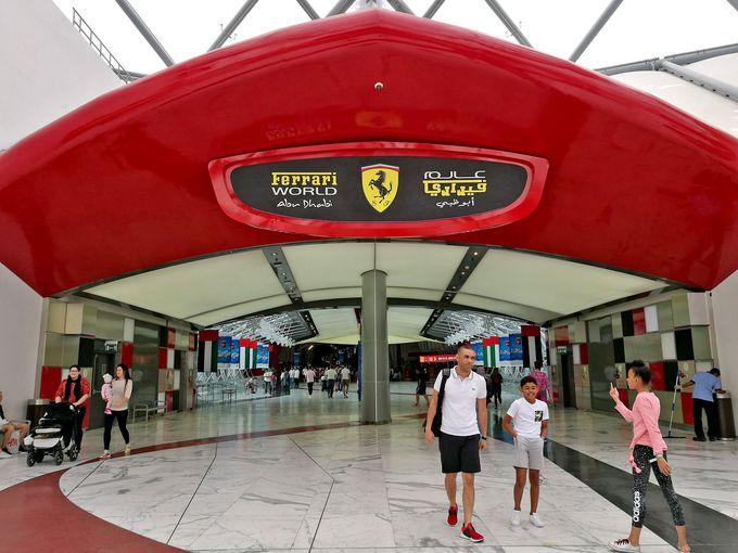 イタリアの高級自動車メーカー、フェラーリをテーマにした遊園地