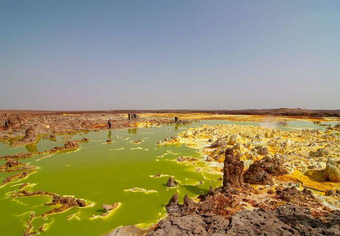 見所2:ここは地球?極彩色の「ダロール火山」