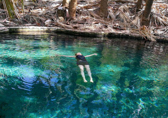 透明度抜群!マタランカ温泉は水中まで美しい