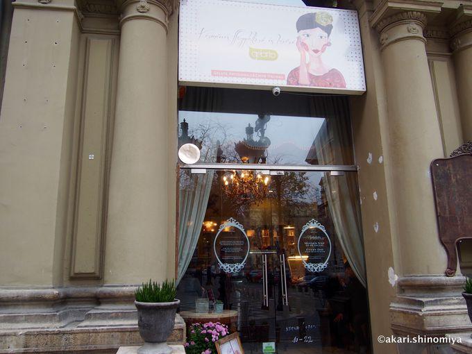 観光名所の近くにある人気ジェラート店