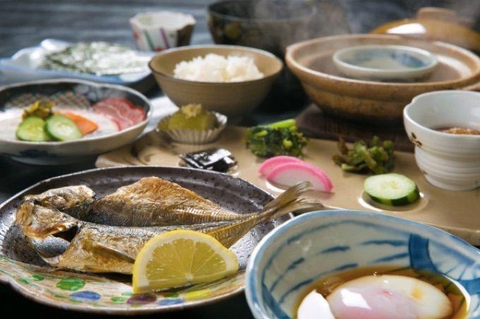唐津産の食材をたっぷり使った豪華な朝食