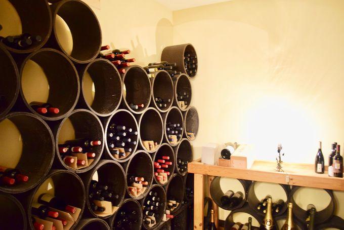 地下1階のワインセラーとパウダールームも必見