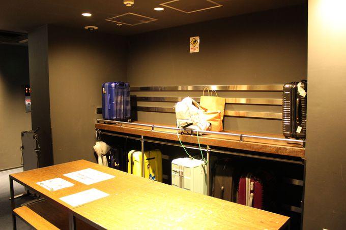 荷物置き場からシャワーまで充実した設備