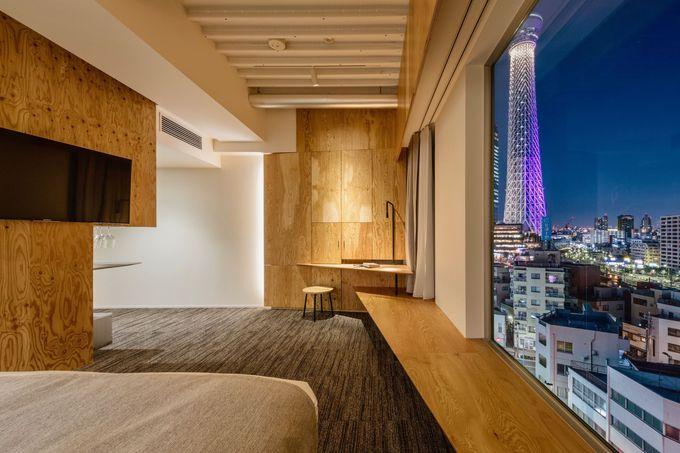 東京スカイツリーを見渡せる客室「Loft」