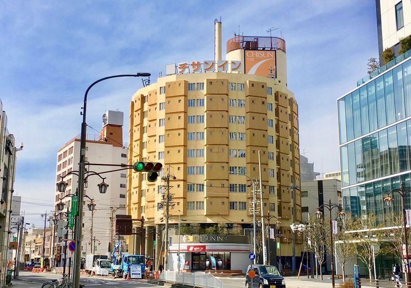 建築好きにはたまらない円形ホテル!「チサン イン 名古屋」