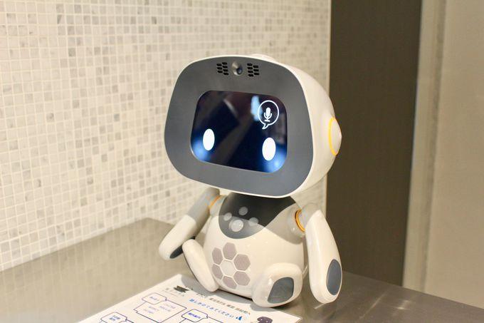 フロントで個性豊かなロボットがお出迎え!