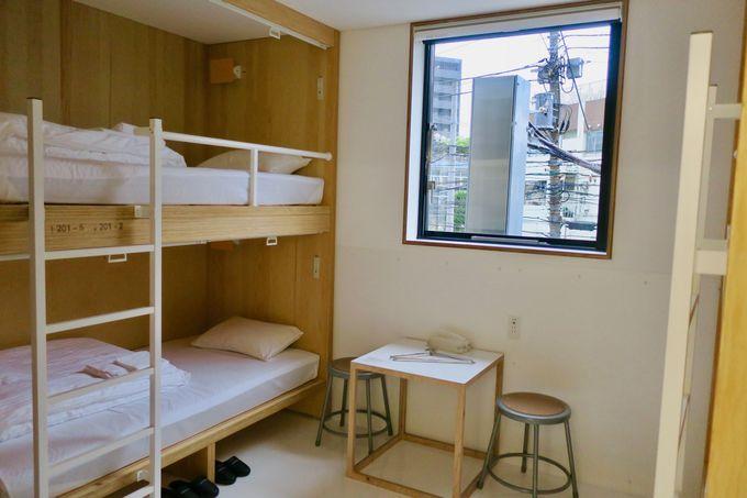 スタンダードな客室やドミトリーも使いやすい!