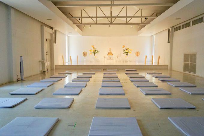 本来の自分自身と向き合える瞑想室!