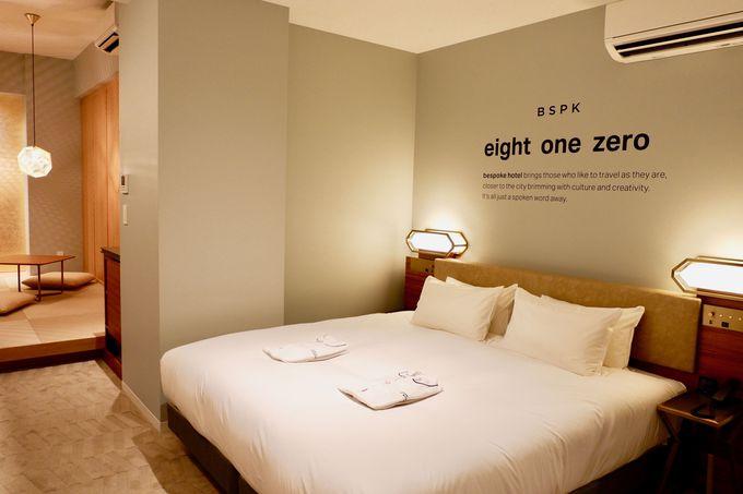 シンプルながらもデザイン性のある客室